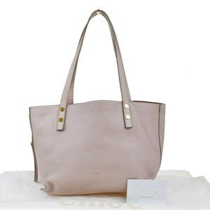 Authentic CHLOE Dilan Shoulder Tote Bag Leather